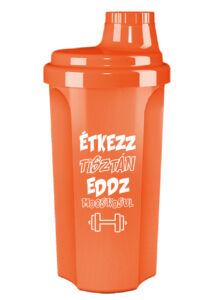 Kolly Fitness - Neon Shaker 500 ml, Étkezz tisztán (narancs)