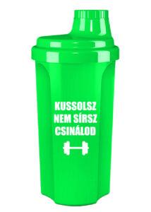 Kolly Fitness - Neon Shaker 500 ml, Kussolsz, Nem sírsz, Csinálod (zöld)
