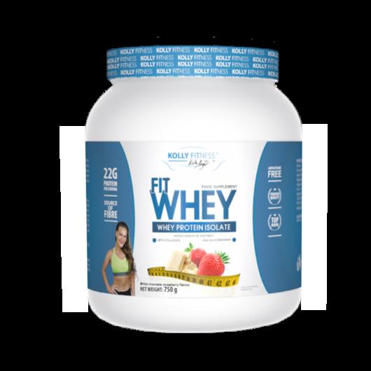 Kolly Fitness - Fit Whey Protein -750 g - Fehércsoki-eper