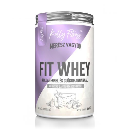 Kolly Fitness - Fit Whey 450 g - Áfonyás sajttorta