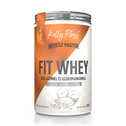 Kolly Fitness - Fit Whey 450 g - Csokoládé-mogyoró