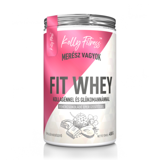 Kolly Fitness - Fit Whey 450 g - Fehércsoki-eper