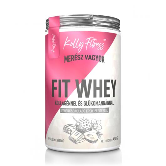 Kolly Fitness - Fit Whey 450 g - Fehércsokoládé-eper