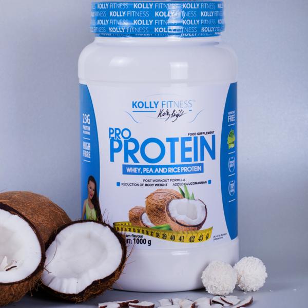Kolly Fitness - Pro Protein 1000 g - Kókusz álom