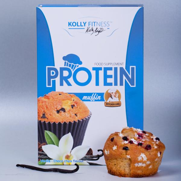 Kolly Fitness - Protein Muffinpor vanília csokoládé darabokkal 500 g