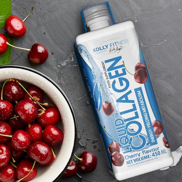 Kolly Fitness - Collagen Liquid - 450 ml - Cseresznye