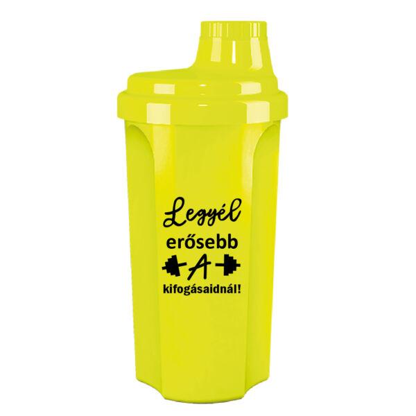 Kolly Fitness - Neon Shaker 500 ml, Legyél erősebb (sárga)